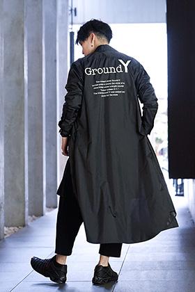 Ground Y 19AW Back Logo shirt Dress Styling !!