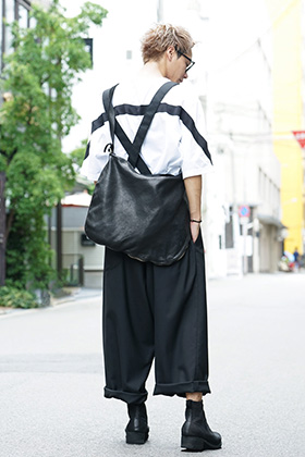 Ground Y 19AW Monotone Suspenderpants styling !!