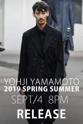 Yohji Yamamoto 19-20 AW Releasing on 4th Sept at 8 PM!