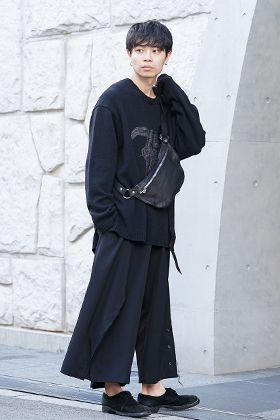 Yohji Yamamoto 19-20AW Embroidery 5G Round Neck Knit Style