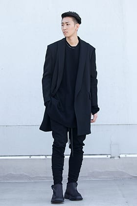 .LOGY kyoto 19-20AW JULIUS  【LOZENGE TAILORED COLLAR JACKET】BLACK STYLE!!