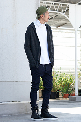 .LOGY kyoto RIPVANWINKLE【 SLIM EASY PANTS × CROSS NECK HOODY 】STYLING!!!
