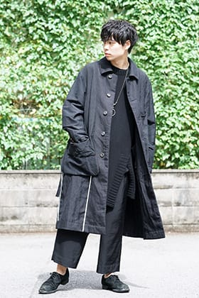 ZIGGY CHEN Wool Linen Soutien Collar Coat Style