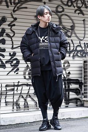 Y-3 × NILøS Down&freeze Black Winter styling!!