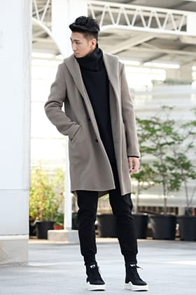 .LOGY kyoto 19-20AW ATTACHMENT 【Cashmere mixed double face beaver hooded coat】 STYLE!!