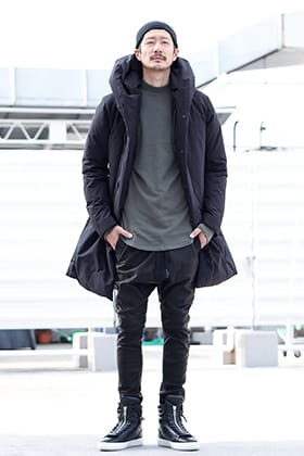 .LOGY kyoto 19AW ATTACHMENT【 HOODED DOWN COAT BLACK 】STYLING!!!