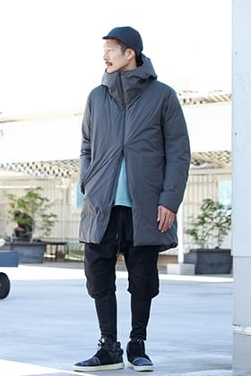 .LOGY kyoto 19AW ATTACHMENT【 3 LAYER HOODED DOWN COAT GRAY 】STYLING!!!