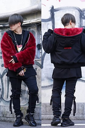 CAVIALE Fur Lined Reversible Hoodie Autumn Winter Styling !!