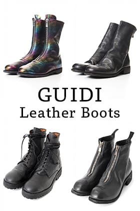 GUIDI Leather Boots Line-Up