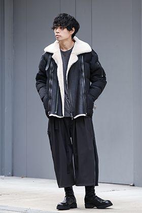 The Viridi-anne Mouton Nylon Down Jacket Style
