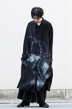 Yohji Yamamoto 19-20AW Snake woman Print Shirt coat Style