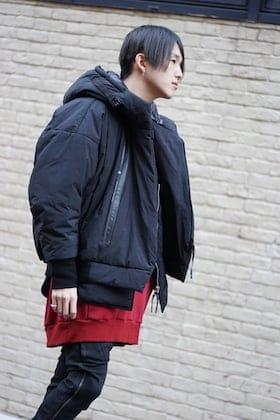 NILøS Black × Deep Red 19aw Styling !!