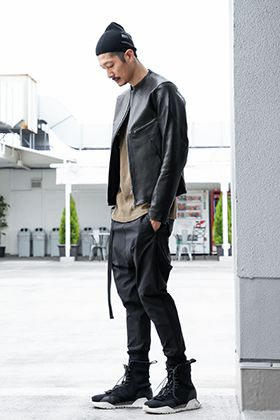 .LOGY kyoto The Viridi-anne【 LEATHER RIDERS 】GATHER JOGGER PANTS STYLING!!!