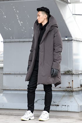 .LOGY kyoto ATTACHMENT Pe Ny Peachskin hooded down coat  STYLE!!