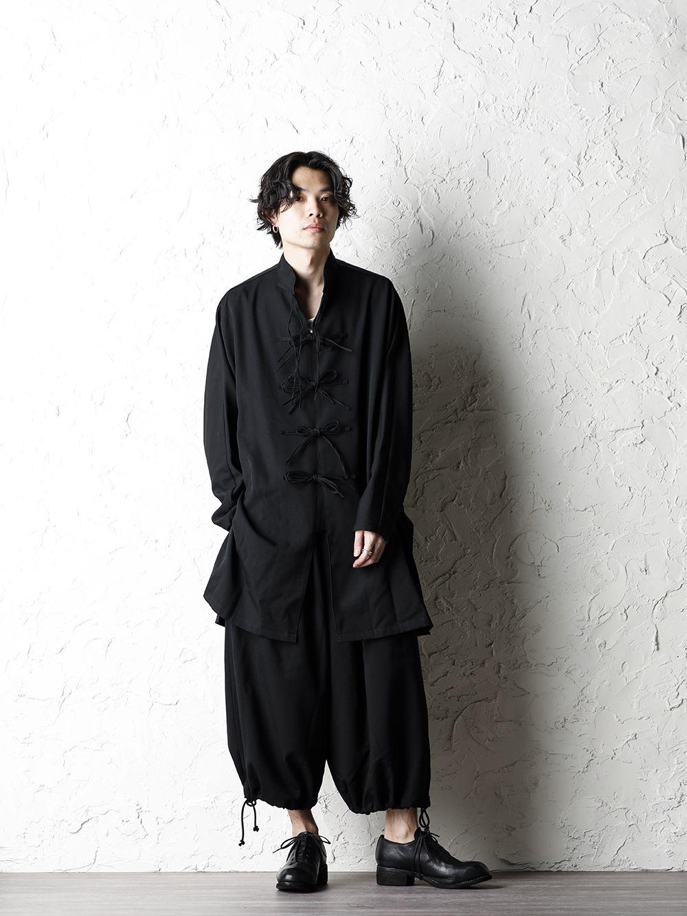 B Yohji Yamamoto 20SS Bow Dolman Sleeve Blouse - 1-001