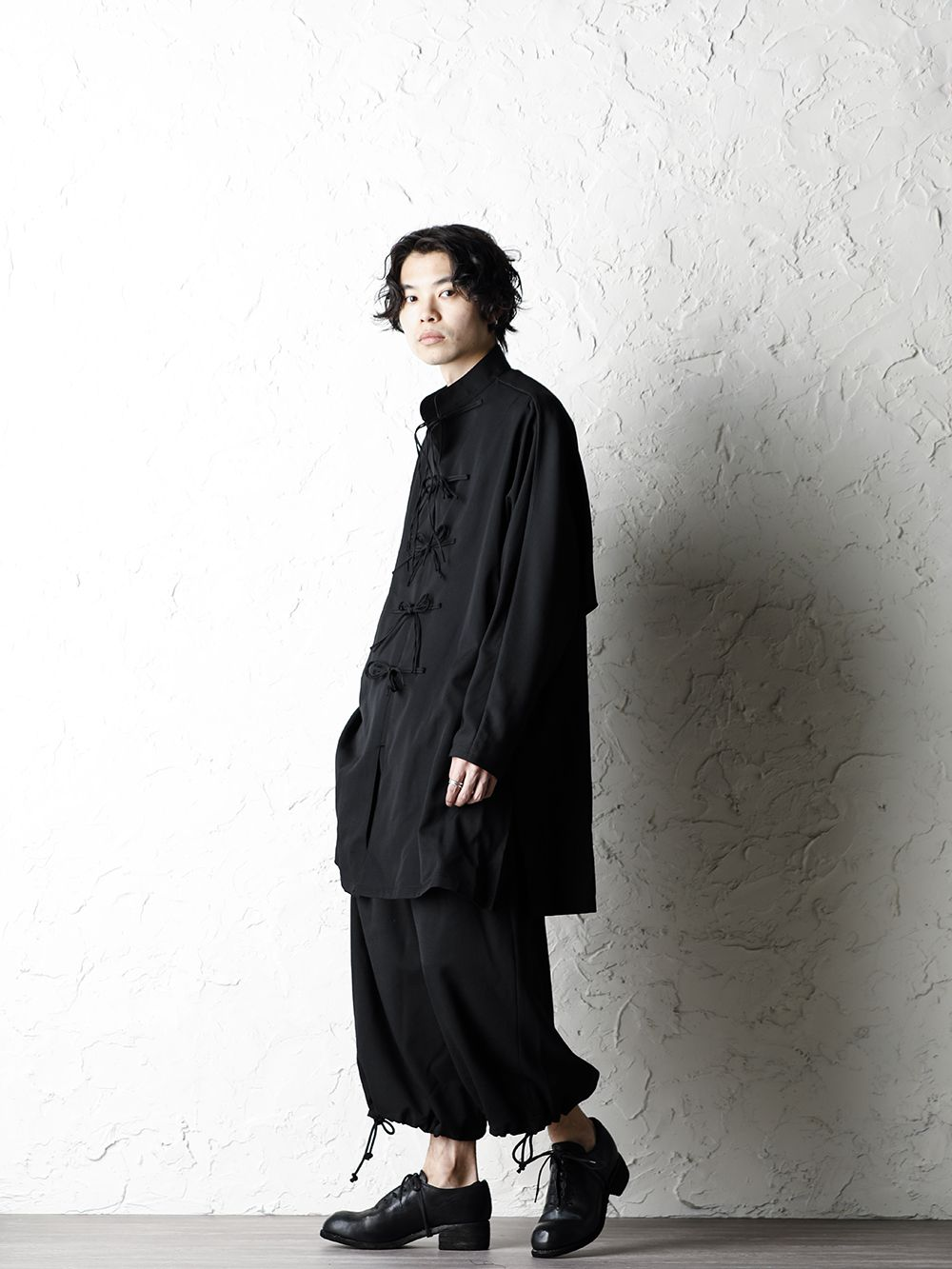 B Yohji Yamamoto 20SS Bow Dolman Sleeve Blouse - 1-002