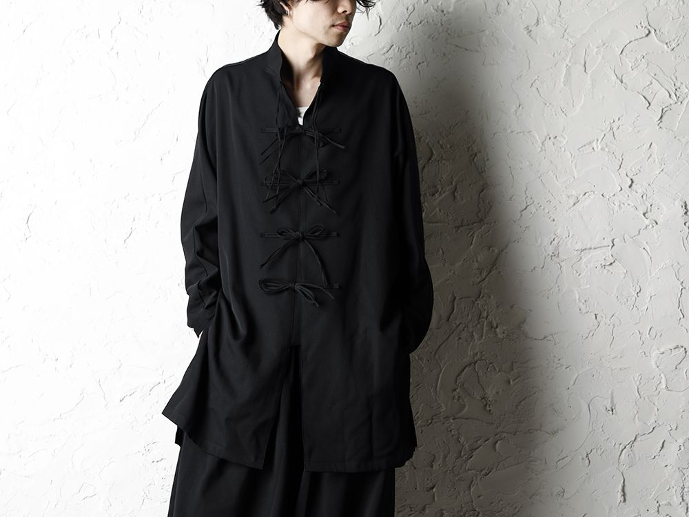 B Yohji Yamamoto 20SS Bow Dolman Sleeve Blouse - 2-001