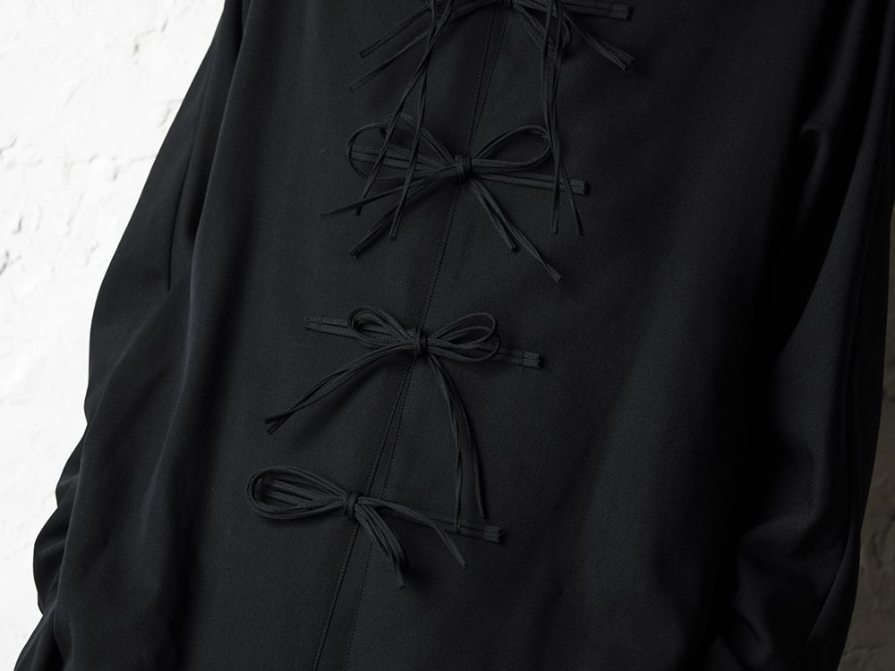 B Yohji Yamamoto 20SS Bow Dolman Sleeve Blouse - 2-003