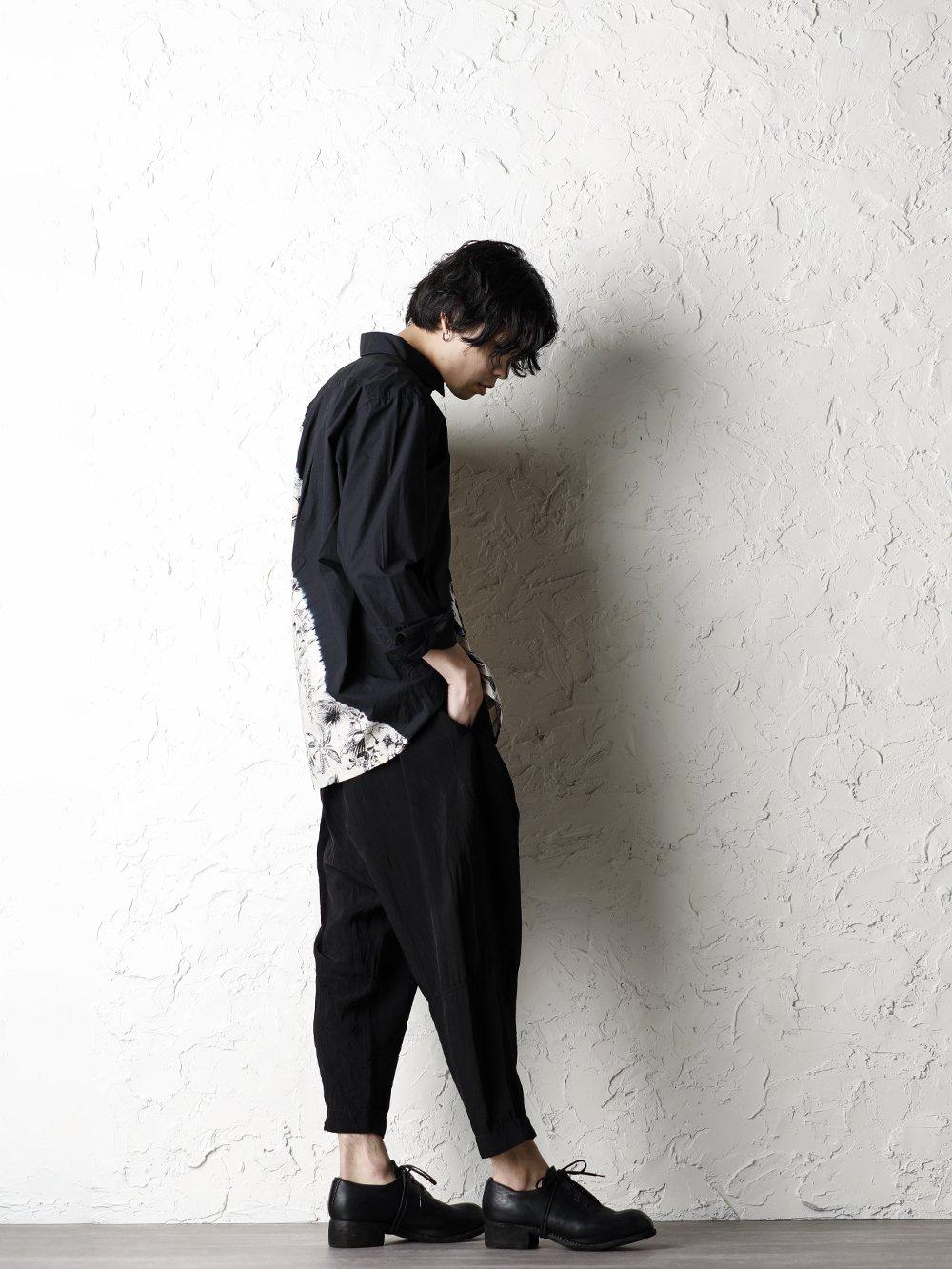 SUZUSAN 20SS  Long Sleeve Shirt Diagonal Shibori Boushi Style - 1-003