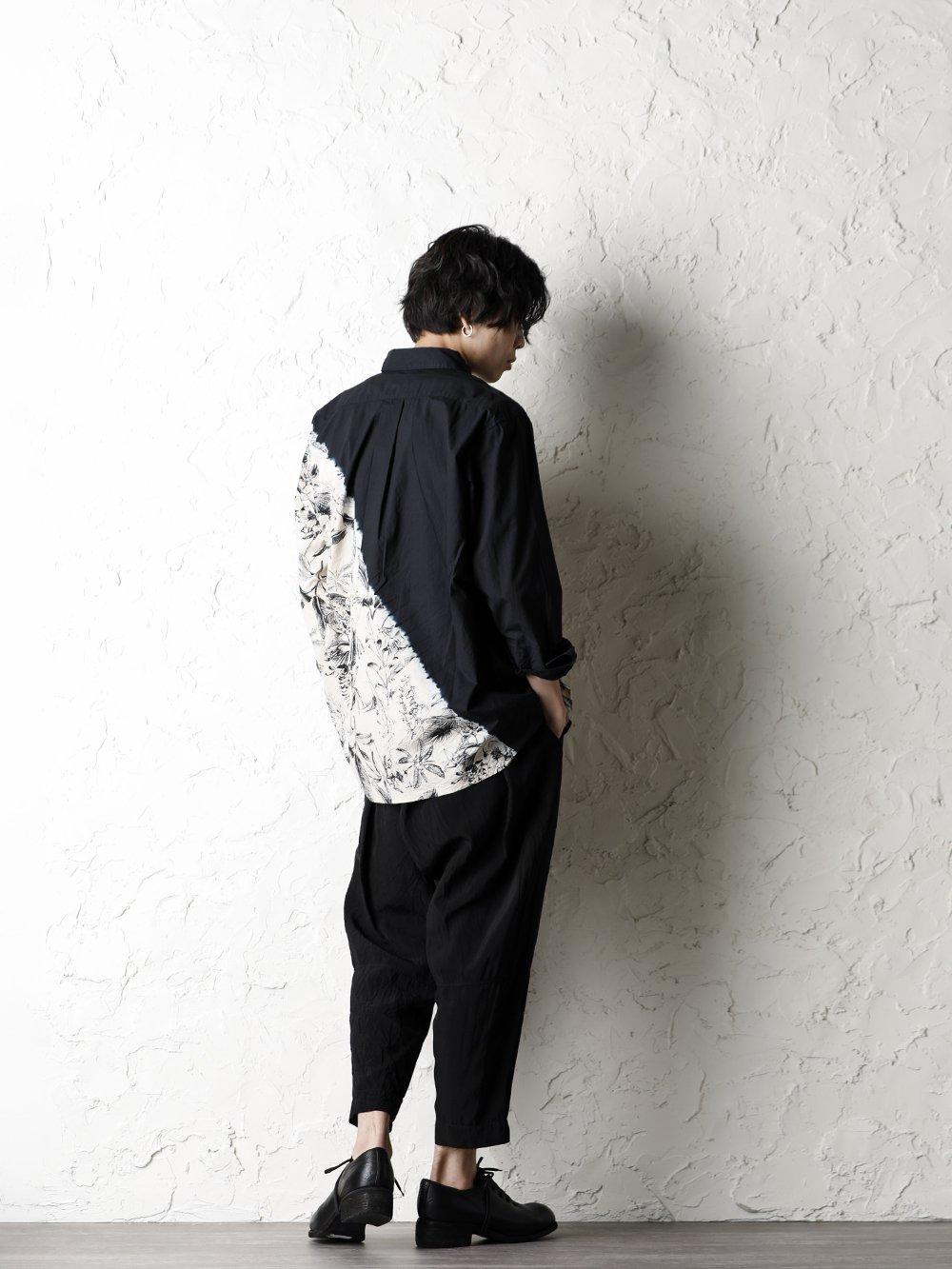 SUZUSAN 20SS  Long Sleeve Shirt Diagonal Shibori Boushi Style - 1-004
