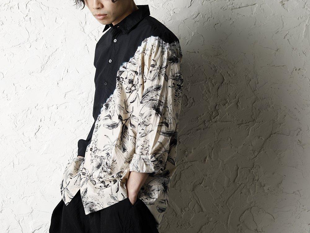 SUZUSAN 20SS  Long Sleeve Shirt Diagonal Shibori Boushi Style - 2-001