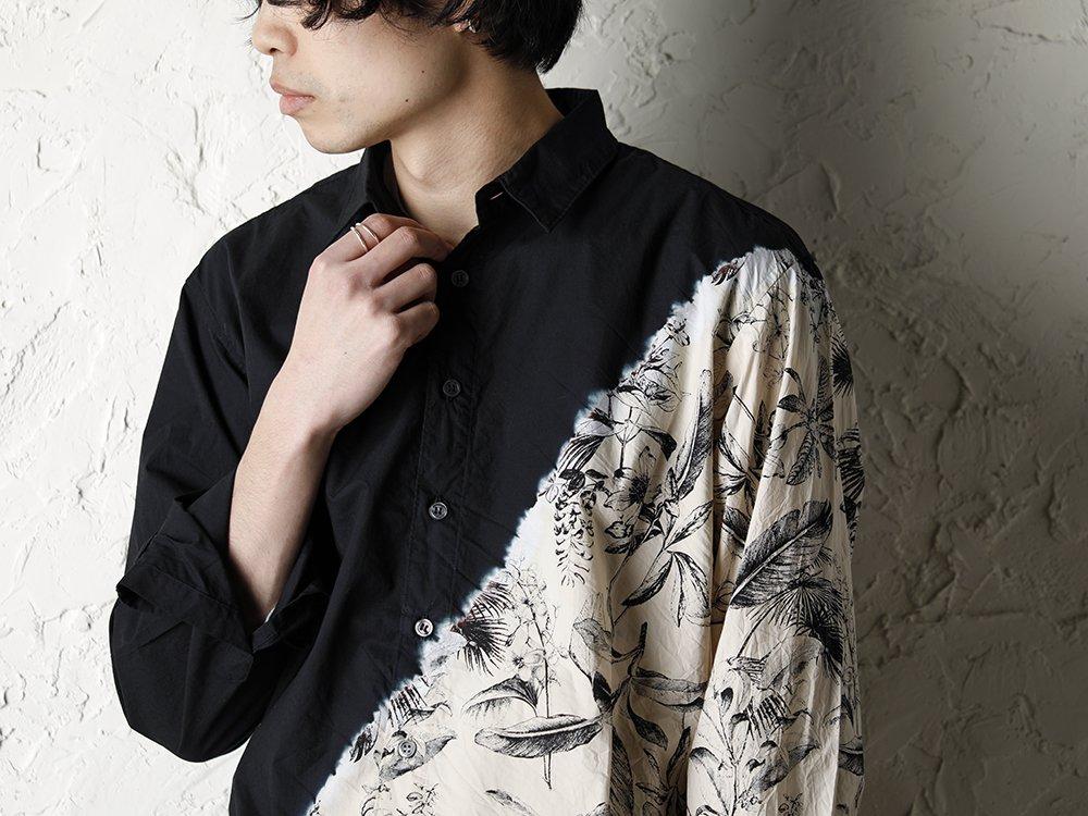 SUZUSAN 20SS  Long Sleeve Shirt Diagonal Shibori Boushi Style - 2-002