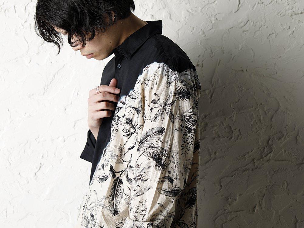 SUZUSAN 20SS  Long Sleeve Shirt Diagonal Shibori Boushi Style - 2-003