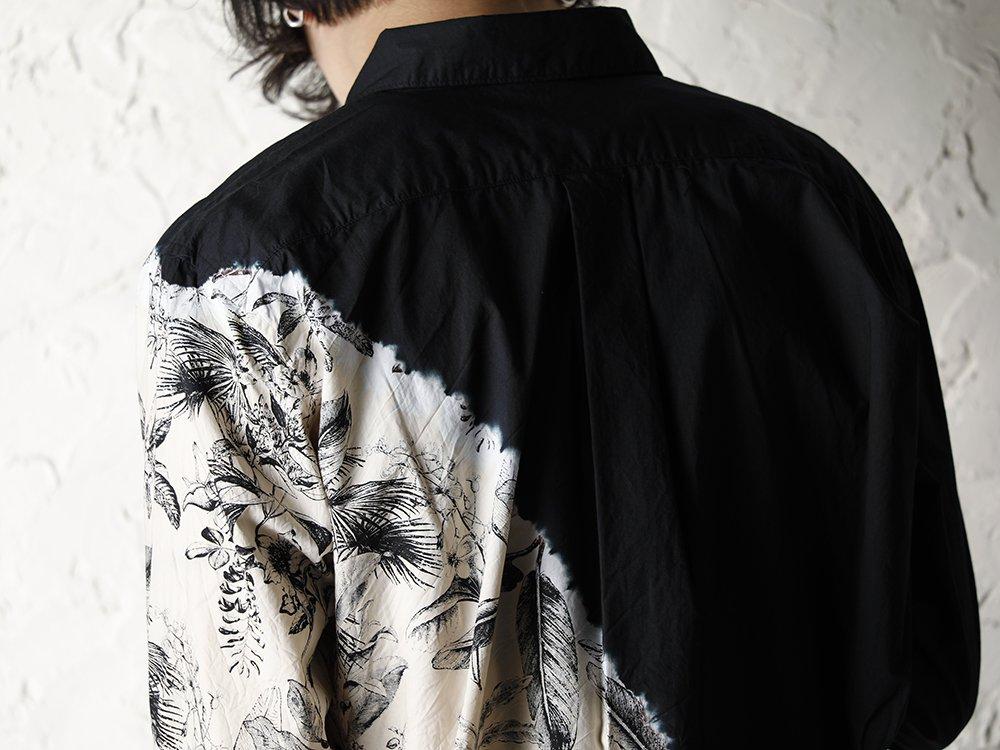 SUZUSAN 20SS  Long Sleeve Shirt Diagonal Shibori Boushi Style - 2-004