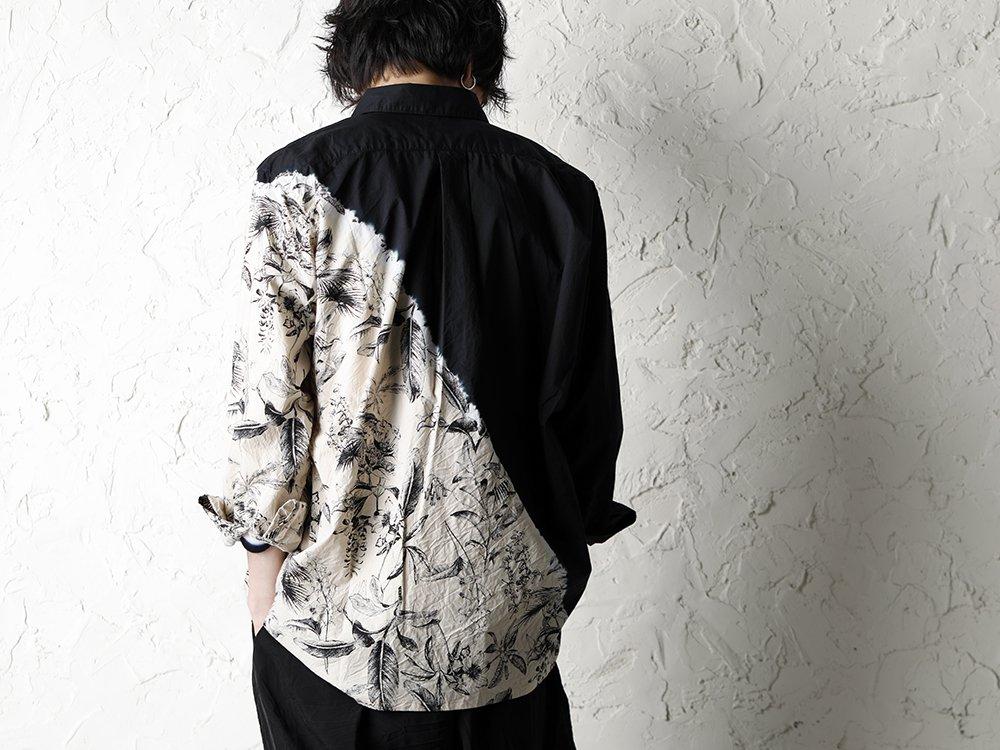 SUZUSAN 20SS  Long Sleeve Shirt Diagonal Shibori Boushi Style - 2-006