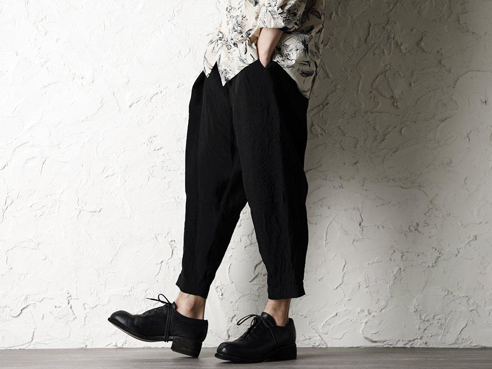 SUZUSAN 20SS  Long Sleeve Shirt Diagonal Shibori Boushi Style - 3-001