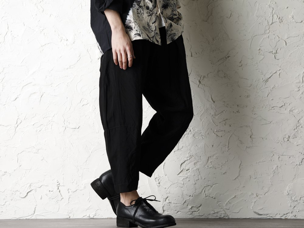 SUZUSAN 20SS  Long Sleeve Shirt Diagonal Shibori Boushi Style - 3-002