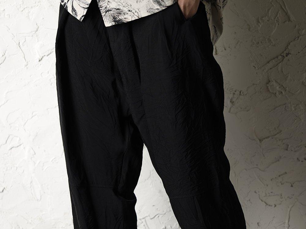 SUZUSAN 20SS  Long Sleeve Shirt Diagonal Shibori Boushi Style - 3-004
