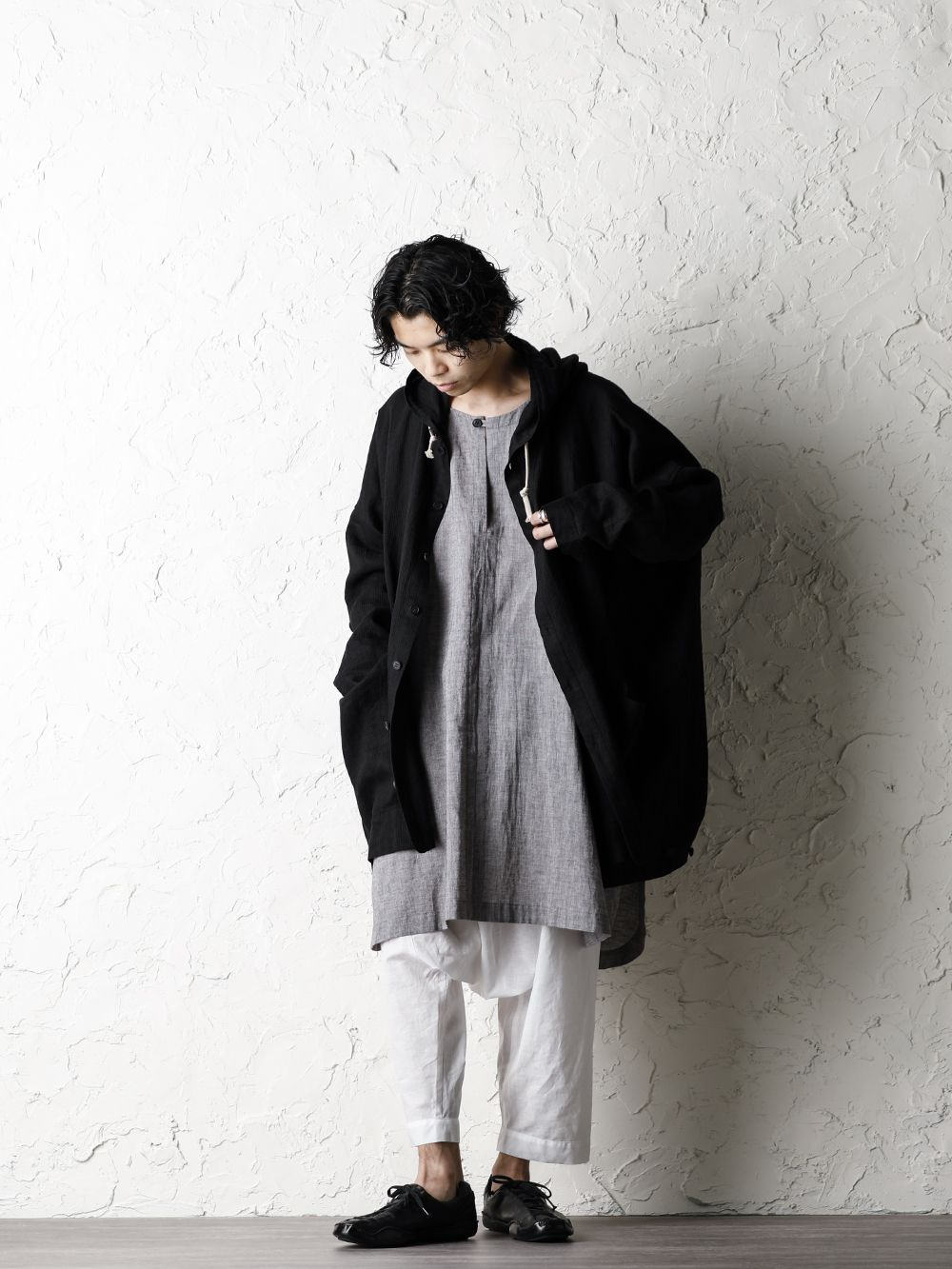 O project 20SS Stripe linen Hooded Shirts Jacket Style - 1-001