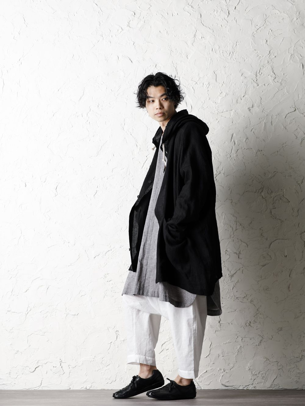 O project 20SS Stripe linen Hooded Shirts Jacket Style - 1-002
