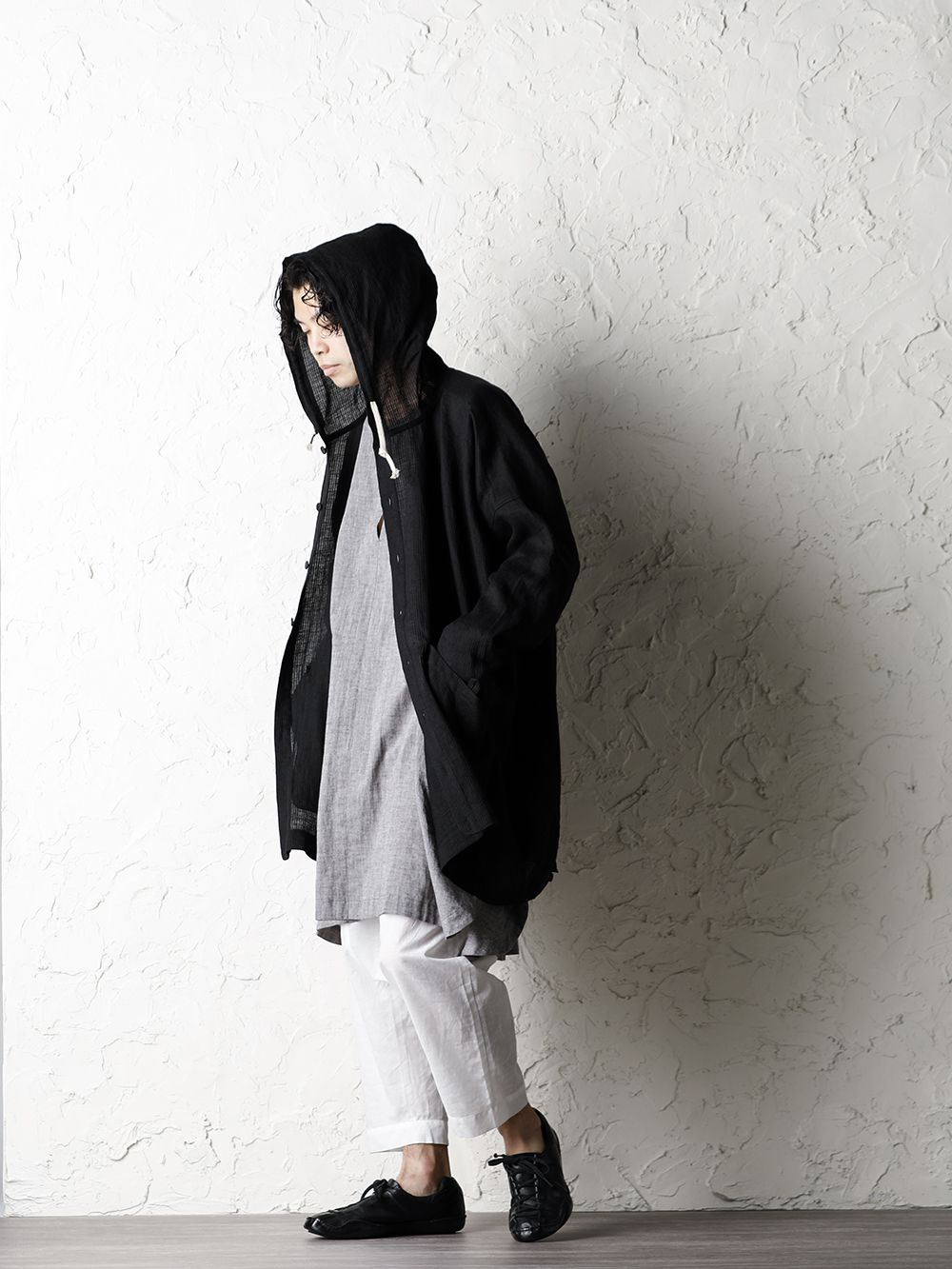 O project 20SS Stripe linen Hooded Shirts Jacket Style - 1-004