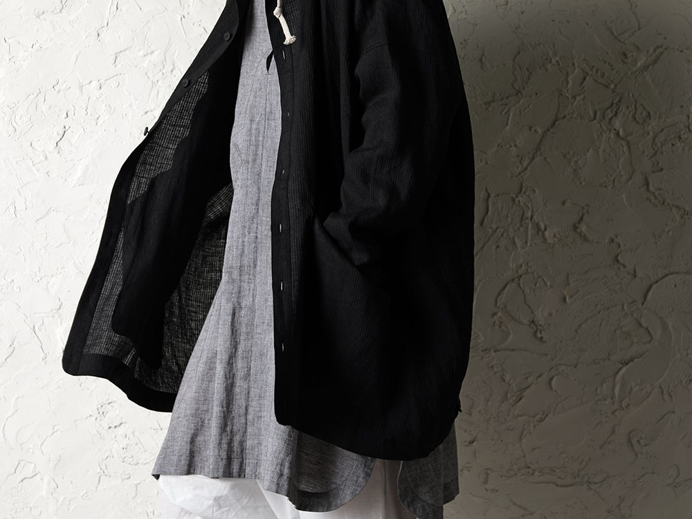 O project 20SS Stripe linen Hooded Shirts Jacket Style - 2-002