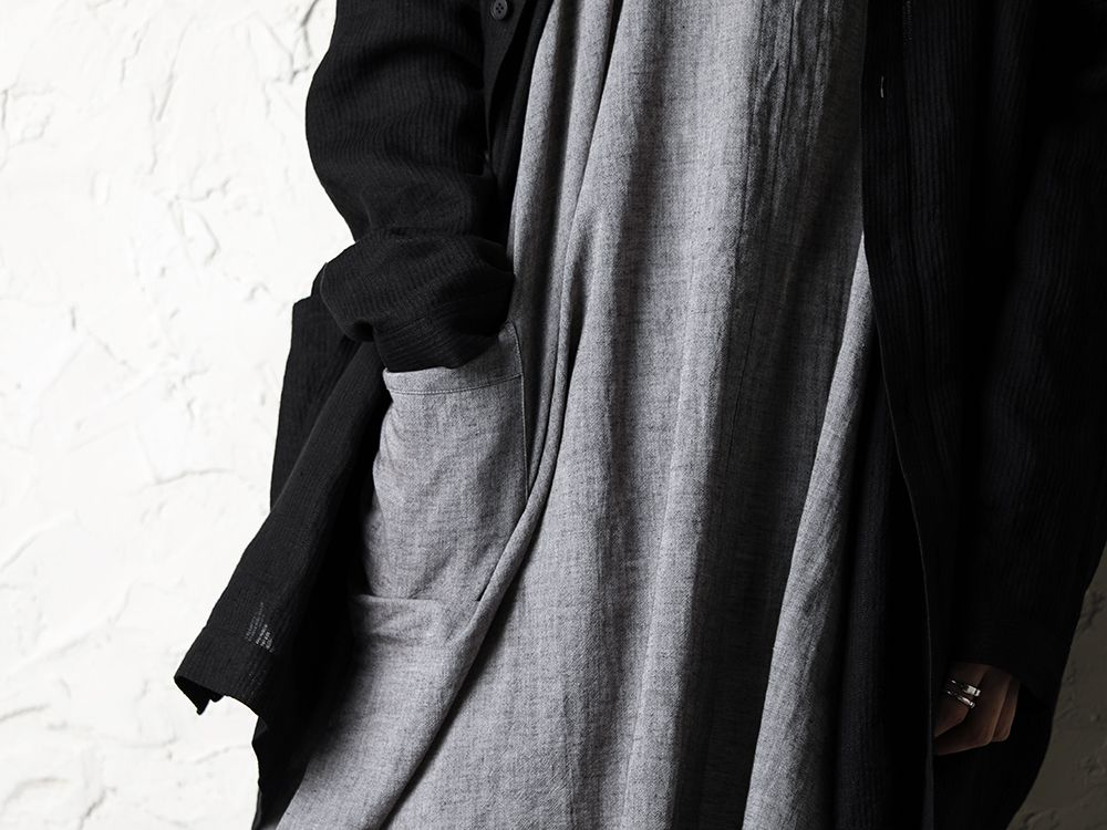 O project 20SS Stripe linen Hooded Shirts Jacket Style - 2-003
