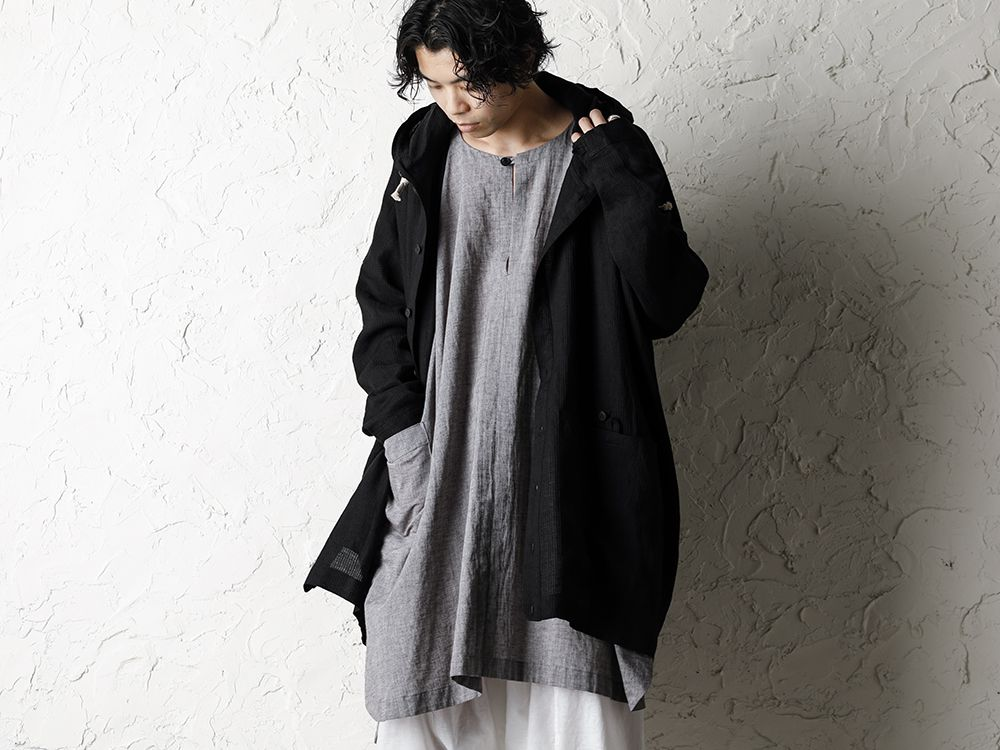 O project 20SS Stripe linen Hooded Shirts Jacket Style - 2-004