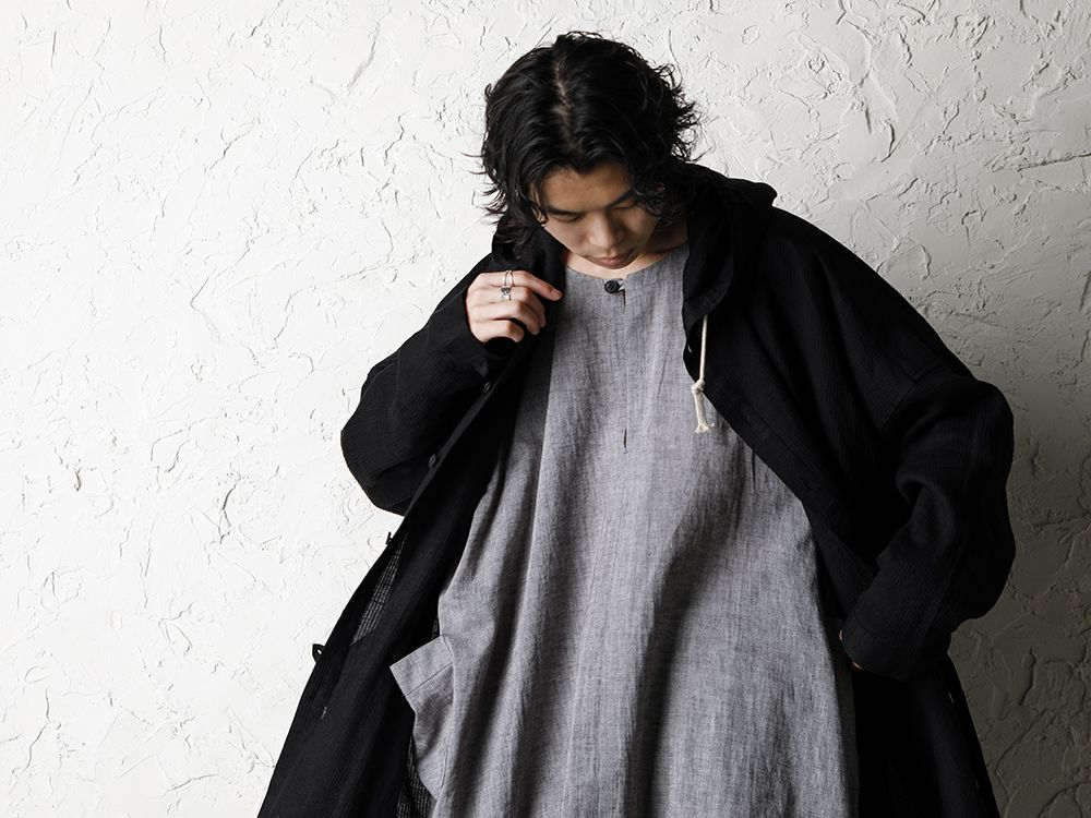 O project 20SS Stripe linen Hooded Shirts Jacket Style - 2-005