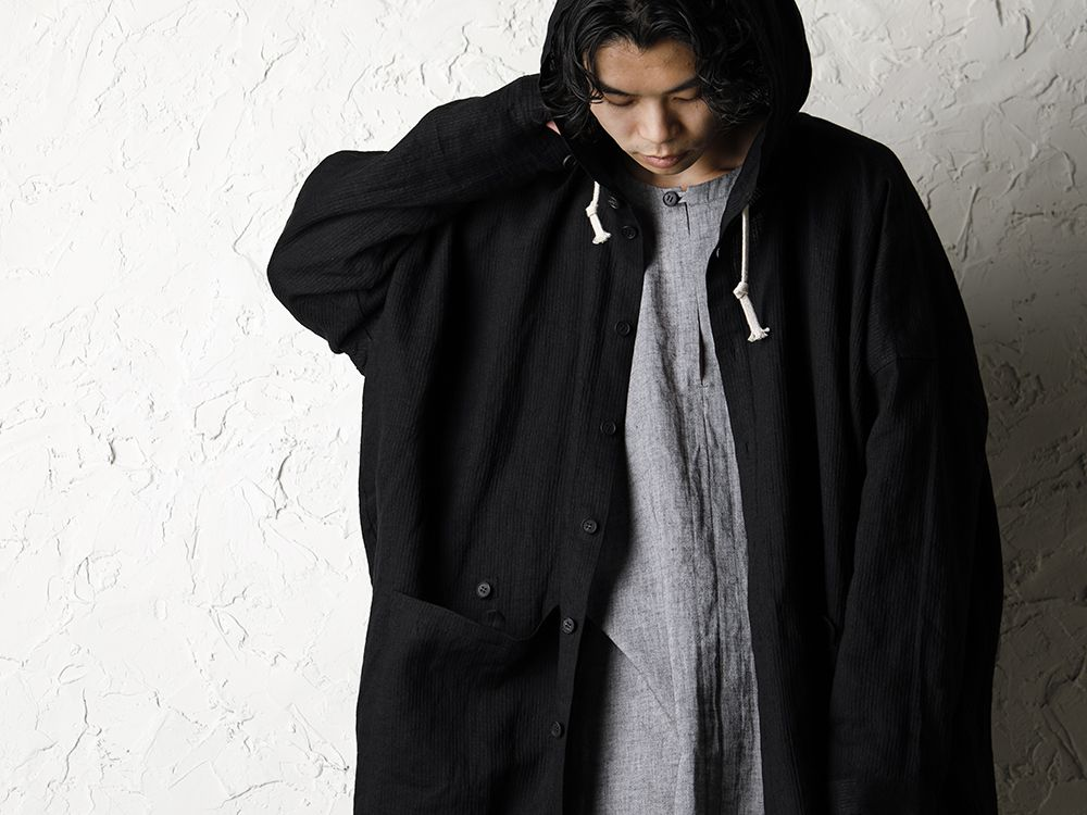 O project 20SS Stripe linen Hooded Shirts Jacket Style - 2-006