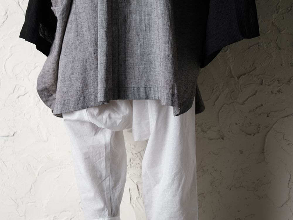 O project 20SS Stripe linen Hooded Shirts Jacket Style - 3-005