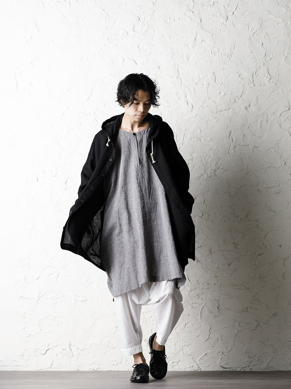 O project 20SS Stripe linen Hooded Shirts Jacket Style - 4-001