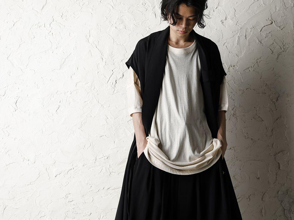 Rondo.ym 20SS Silk Georgette Phoenix and Fan Embroidery Kimono Sleeve Coat Style - 2-001