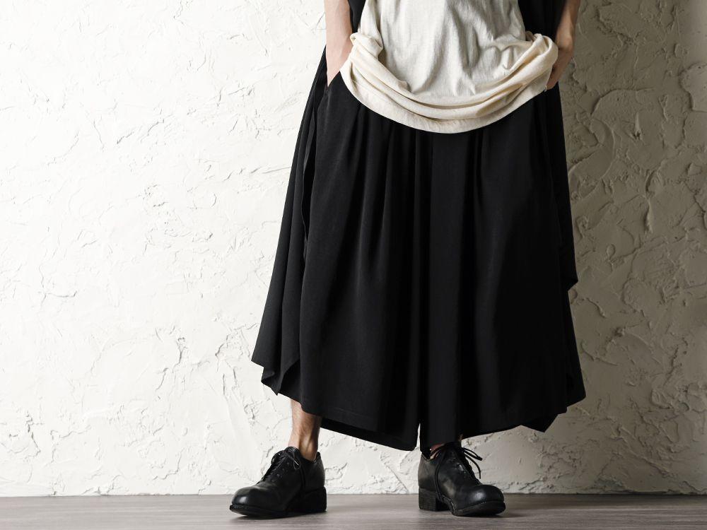 Rondo.ym 20SS Silk Georgette Phoenix and Fan Embroidery Kimono Sleeve Coat Style - 3-001