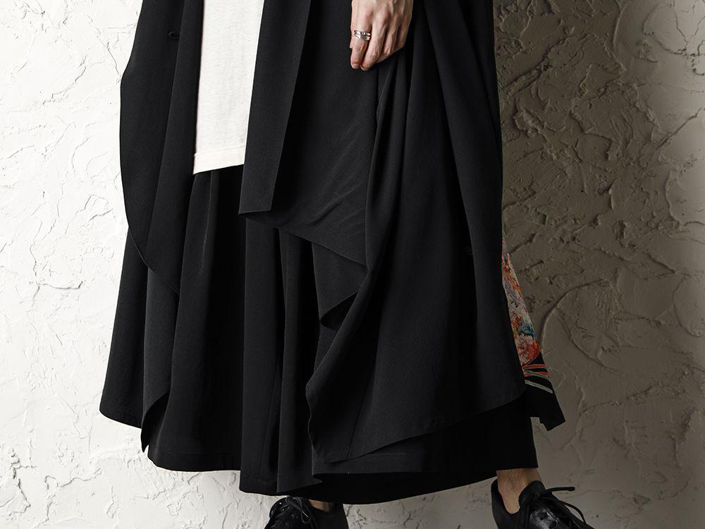 Rondo.ym 20SS Silk Georgette Phoenix and Fan Embroidery Kimono Sleeve Coat Style - 3-003
