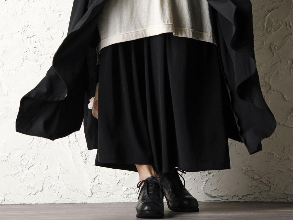 Rondo.ym 20SS Silk Georgette Phoenix and Fan Embroidery Kimono Sleeve Coat Style - 3-004