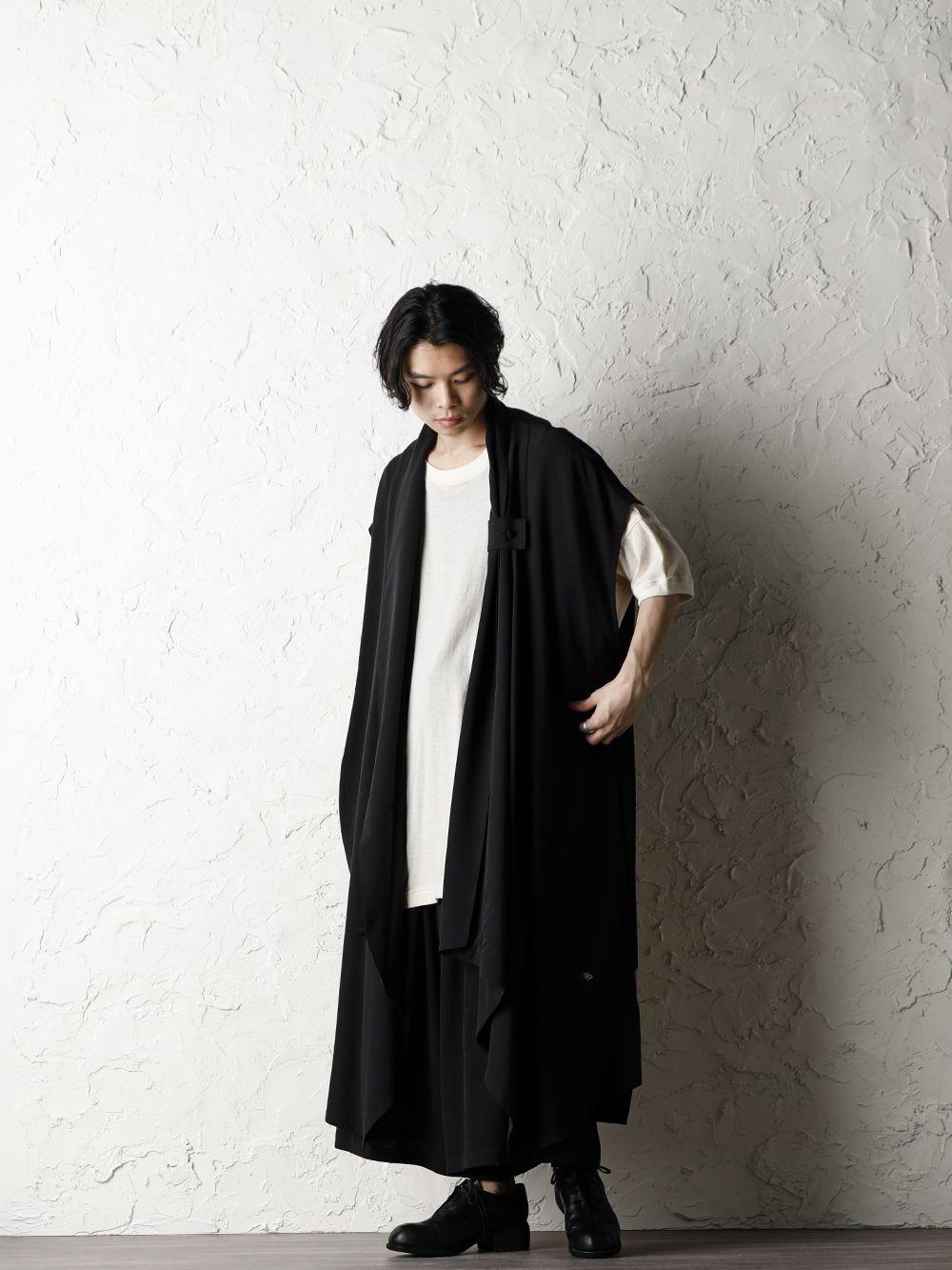 Rondo.ym 20SS Silk Georgette Phoenix and Fan Embroidery Kimono Sleeve Coat Style - 4-001