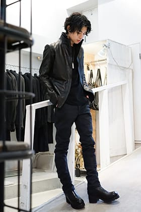 DEVOA 20SS Leather Jacket Styling