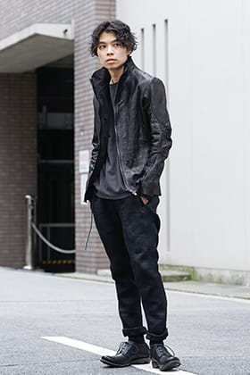 DEVOA 20SS Leather and Denim Style
