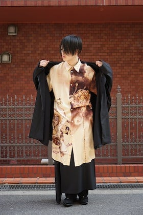 Ground Y x Kyousai Kawanabe graphic Long shirt styling !!